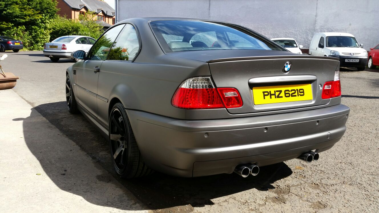 M3 Pimped out Silver to Satin Anthracite and gloss black wheels