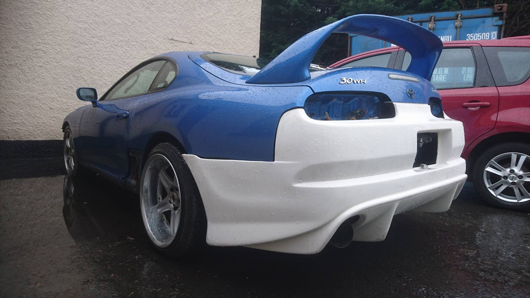 Kenny Wylie Test fitting Mario Supra body Kit