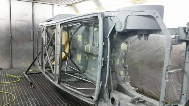 Evo 7 Extreme prepped and fully painted with custom made crate for direct export to customer