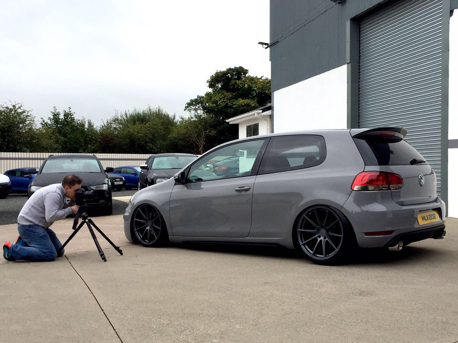 Golf colour change and airbagged for Top Gear NI