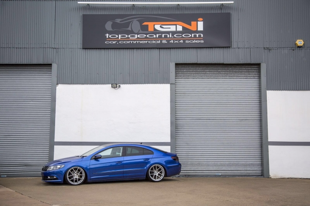 VW Passat CC colour change to Sepang Blue and Airbagged fitted for Top Gear NI